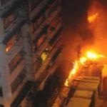 湾仔の住宅13階で火災発生 4人が負傷、ひとりは重体に